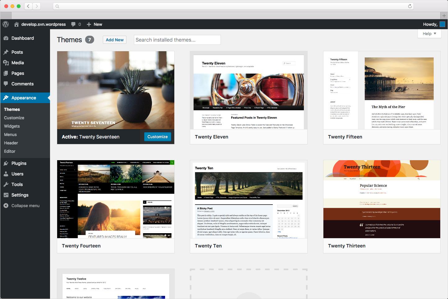WordPress Hosting screenshot